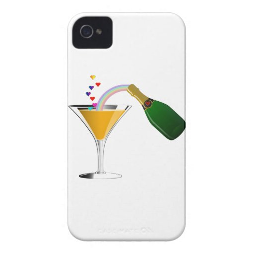 Champagne Toast iPhone 4 Covers