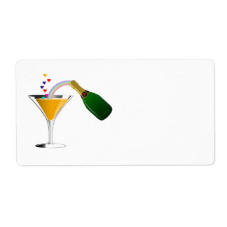 Champagne Toast Personalized Shipping Label