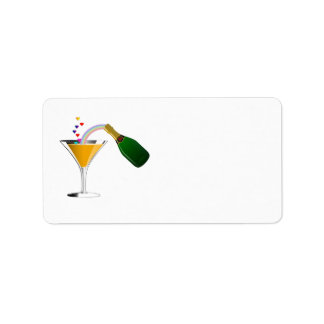 Champagne Toast Personalized Address Labels