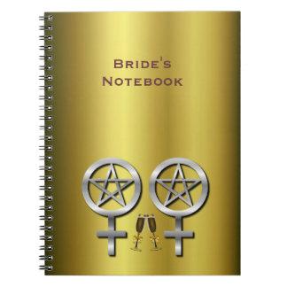 Champagne Toast Lesbian Wedding Bride's Notebook