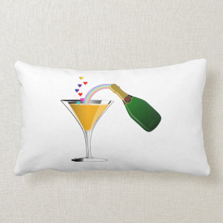 Champagne Toast Lumbar Pillow