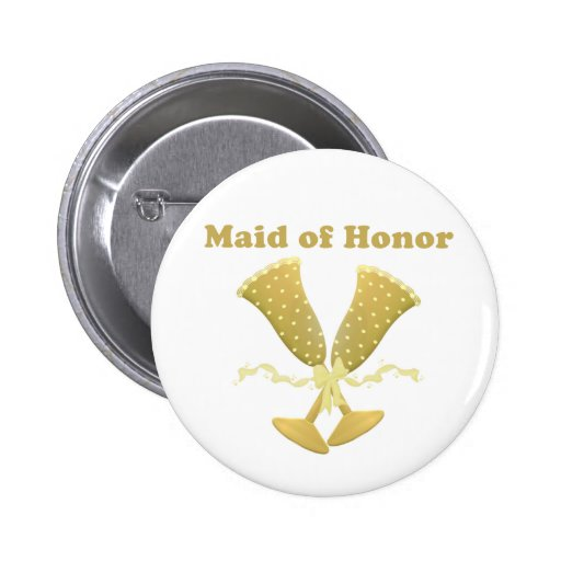 Champagne Toast Maid of Honor Gift Button