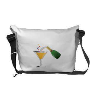 Champagne Toast Messenger Bag