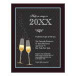 Champagne Toast New Year's Party Invitation
