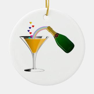 Champagne Toast Ornament