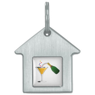 Champagne Toast Pet Tag