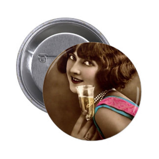 Champagne Toast Pinback Button