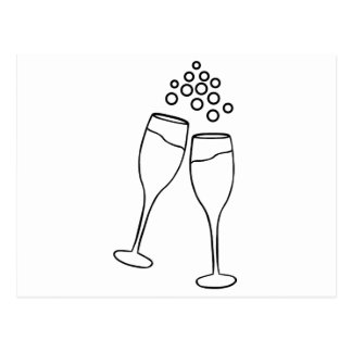 Champagne Toast Postcard