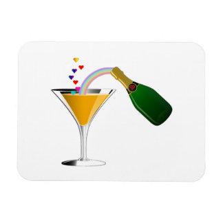 Champagne Toast Rectangular Photo Magnet