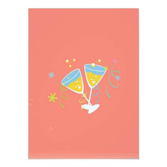 Retro Birthday Party Pink Vintage Invitation