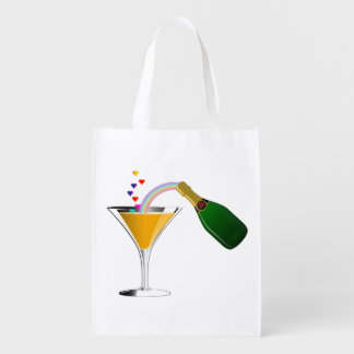 Champagne Toast Reusable Grocery Bag