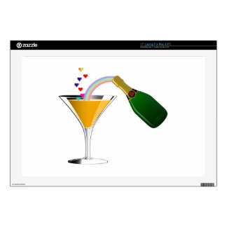 Champagne Toast Decals For Laptops