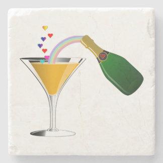 Champagne Toast Stone Coaster