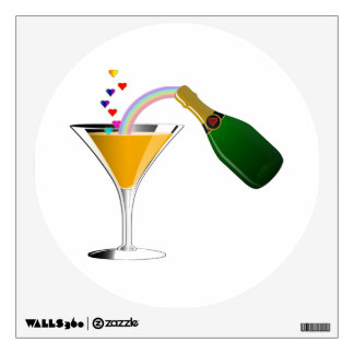 Champagne Toast Wall Decal