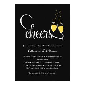Champagne Toast Wedding Anniversary Invitation