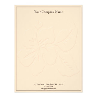 Champagne Tone on Tone Hibiscus Letterhead
