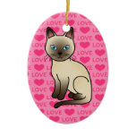 Champagne Tonkinese Cat Love Ornaments
