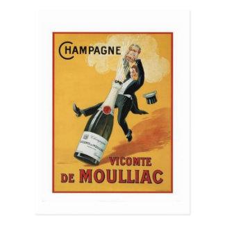 Champagne Viconte De Mouillac Postcard