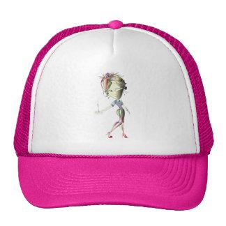 Champagne Waitress Digital Art Trucker Hat