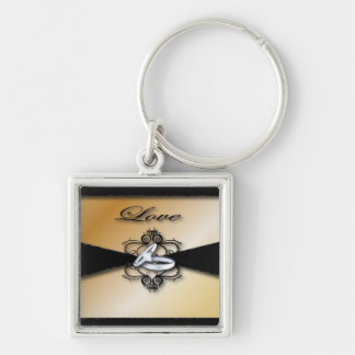Champagne Wedding Save the date and Favor Keychain