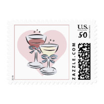 Champagne wedding stamps