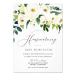 """Champagne White Flowers Elegant Housewarming Party Invitation  (Visit shop to see more housewarming  party invitations. Type """"Housewarming"""" in the search box)"""