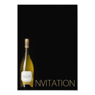 Champagne Wine Minimalism Chic Glam Invitation