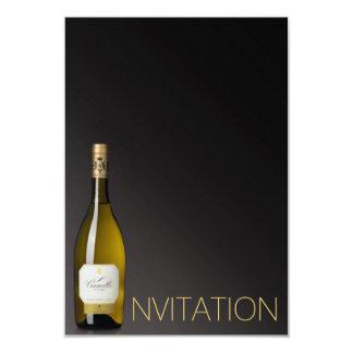 Champagne Wine Minimalism Chic Glam Ombre Vip Card