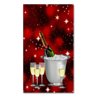 CHAMPAGNE WISHES! ~ BUSINESS CARD MAGNET