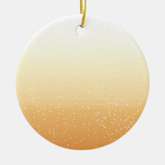 Champagne with Tiny Bubbles Background Art Ceramic Ornament