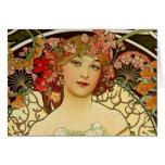 Champagne Woman 1897 - F. Champenois Imprimeur Card