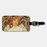 Champagne Woman 1897 - F. Champenois Imprimeur Luggage Tag