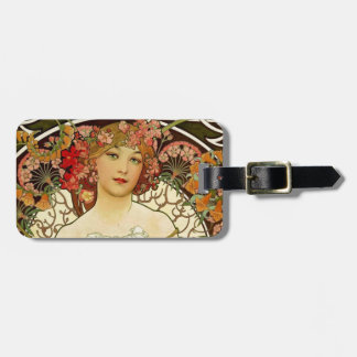 Champagne Woman 1897 - F Champenois Imprimeur Bag Tag