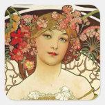 Champagne Woman 1897 - F. Champenois Imprimeur Stickers