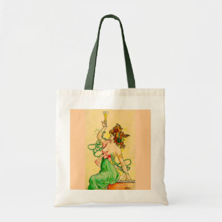 Champagne Woman Budget Tote Bag