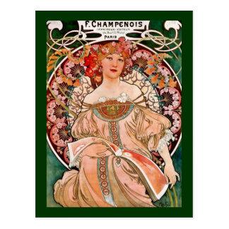 Champagne Woman - F. Champenois Imprimeur Postcard