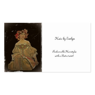 Champagne Woman with Magazine Business Card