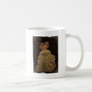 Champagne Woman with Magazine Coffee Mug