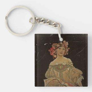 Champagne Woman with Magazine Keychain