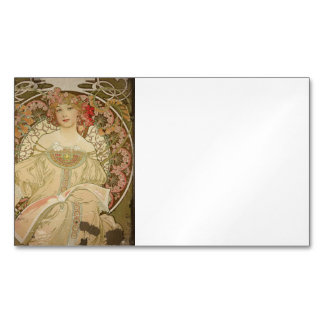 Champagne Woman with Magazine Magnetic Business Card