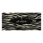 Champagne Zebra Gift Certificate : Rack Card
