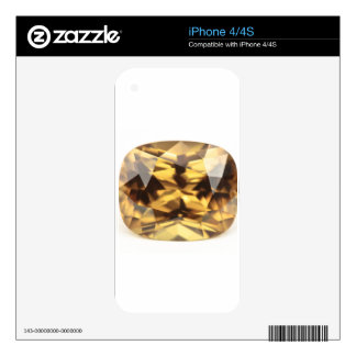 Champagne Zircon Decals For iPhone 4