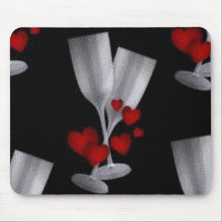 champaign and hearts mouse pad