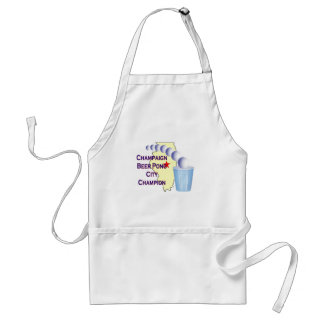 Champaign Beer Pong Champion Adult Apron