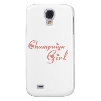 Champaign Girl tee shirts Galaxy S4 Covers