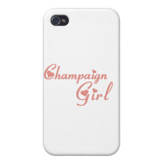 Champaign Girl tee shirts Cases For iPhone 4