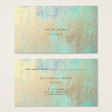 McTiffany Tiffany Aqua Champaign Gold Tiffany Navy Blue Appointment Card