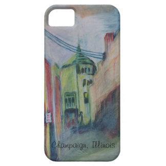 Champaign Illinois Scene,  original colored pencil iPhone 5/5S Cover