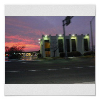 Champaign Sunset Poster