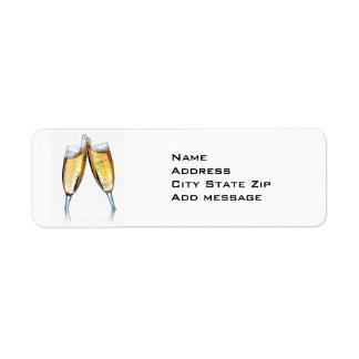 CHAMPAIGN TOAST ADDRESS LABEL
